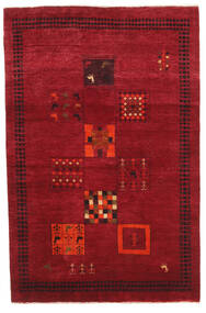 Gabbeh Loribaft Rug 121X185 Authentic  Modern Handknotted Crimson Red/Dark Red (Wool, India)