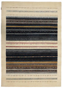 Gabbeh Loribaft Rug 171X240 Authentic  Modern Handknotted Dark Grey/Beige (Wool, India)