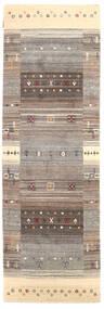 Loribaf Loom Rug 82X253 Authentic Modern Handknotted Hallway Runner Light Grey/Beige (Wool, India)