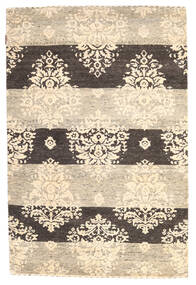 Gabbeh Loribaft Rug 120X182 Authentic  Modern Handknotted Beige/Dark Grey (Wool, India)