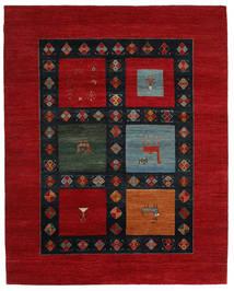 Gabbeh Loribaft Rug 202X254 Authentic  Modern Handknotted Dark Red/Black (Wool, India)