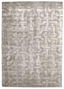 Viscose Modern Rug 170X241 Authentic  Modern Handknotted Dark Grey/Light Grey ( India)