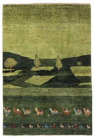 Gabbeh Persia Rug 104X150 Authentic Modern Handknotted Dark Green/Olive Green (Wool, Persia/Iran)