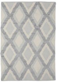 Cilla - Cream/Grey Rug 100X160 Authentic  Modern Handwoven Dark Grey/Dark Green (Cotton, India)