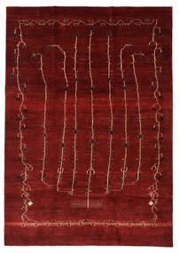 Gabbeh Persia Rug 201X283 Authentic  Modern Handknotted Crimson Red/Dark Red (Wool, Persia/Iran)