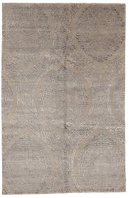 Damask Indo Rug 169X260 Authentic  Modern Handknotted Light Grey (Wool/Bamboo Silk, India)