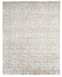 Damask Indo Rug 242X303 Authentic  Modern Handknotted Light Grey/Beige (Wool/Bamboo Silk, India)