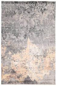 Damask Indo Rug 200X302 Authentic  Modern Handknotted Light Grey/Dark Grey (Wool/Bamboo Silk, India)