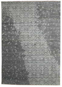 Damask Indo Rug 288X405 Authentic  Modern Handknotted Light Grey/Dark Grey Large (Wool/Bamboo Silk, India)