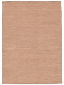 Kilim Loom - Dusty Rose Rug 140X200 Authentic  Modern Handwoven Dark Red/Dark Brown/White/Creme (Wool, India)
