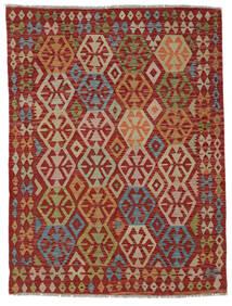 Kilim Afghan Old Style Rug 148X195 Authentic  Oriental Handwoven Dark Red/Light Brown (Wool, Afghanistan)