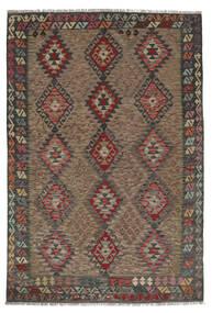 Kilim Afghan Old Style Rug 176X258 Authentic  Oriental Handwoven Dark Brown/Black (Wool, Afghanistan)