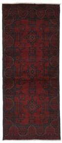 Afghan Khal Mohammadi Rug 77X188 Authentic Oriental Handknotted Hallway Runner Black (Wool, Afghanistan)