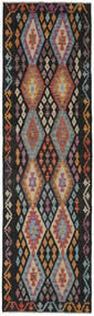 Kilim Afghan Old Style Rug 83X283 Authentic  Oriental Handwoven Hallway Runner  Black/Dark Brown (Wool, Afghanistan)