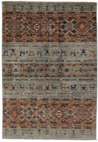 Shabargan Rug 122X181 Authentic Modern Handknotted Dark Brown/Black/Dark Green (Wool, Afghanistan)