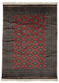 Pakistan Bokhara 2Ply Rug 181X244 Authentic  Oriental Handknotted Black/Dark Brown (Wool, Pakistan)