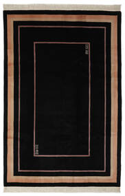 China 90 Line Rug 183X274 Authentic  Oriental Handknotted Black (Wool, China)
