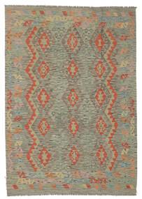 Kilim Afghan Old Style Rug 174X245 Authentic  Oriental Handwoven Dark Brown/Brown (Wool, Afghanistan)