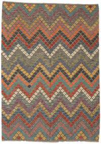 Kilim Afghan Old Style Rug 181X254 Authentic  Oriental Handwoven Dark Brown/Black (Wool, Afghanistan)