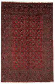Afghan Rug 156X237 Authentic  Oriental Handknotted Black/Dark Red (Wool, Afghanistan)