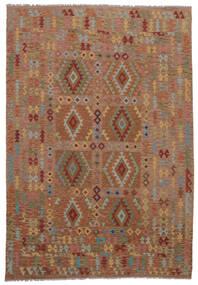 Kilim Afghan Old Style Rug 211X298 Authentic  Oriental Handwoven Dark Brown (Wool, Afghanistan)