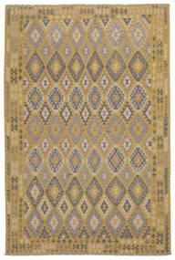 Kilim Afghan Old Style Rug 204X314 Authentic  Oriental Handwoven Brown/Dark Brown (Wool, Afghanistan)