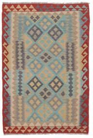 Kilim Afghan Old Style Rug 100X150 Authentic  Oriental Handwoven Dark Brown/Dark Green (Wool, Afghanistan)