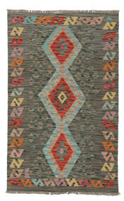 Kilim Afghan Old Style Rug 87X138 Authentic  Oriental Handwoven Dark Green/Dark Brown (Wool, Afghanistan)