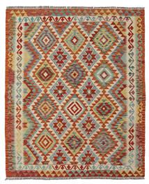 Kilim Afghan Old Style Rug 152X180 Authentic  Oriental Handwoven Dark Green/Dark Brown (Wool, Afghanistan)