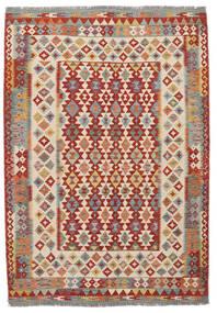 Kilim Afghan Old Style Rug 170X247 Authentic  Oriental Handwoven Dark Brown/Dark Red (Wool, Afghanistan)