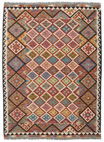 Kilim Afghan Old Style Rug 178X240 Authentic  Oriental Handwoven Dark Brown/Black (Wool, Afghanistan)