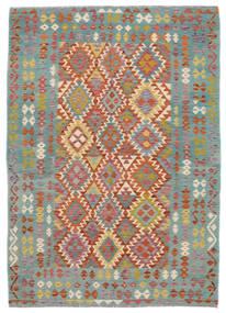 Kilim Afghan Old Style Rug 172X240 Authentic  Oriental Handwoven Dark Green/Dark Brown (Wool, Afghanistan)