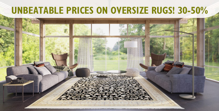 Oversize rugs 25-50%